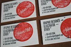 double-stamped business cards; and other creative business card ideas