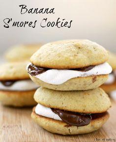 Banana S'mores Cookies - Yummy way to use overripe bananas