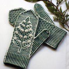 Inspired by underbrush on the Wild Pacific Trail, Brackthaw features a botanical motif emerging from the ice and a small allover design on the palm. Knitted Mittens Pattern, Fair Isle Knitting Patterns, Knit Mittens, Knitted Gloves, Knitting Socks, Hand Knitting, Knit Dishcloth, How To Purl Knit, Knitting Projects