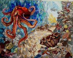 Dance of the Deep art quilt by Cassandra Williams