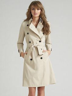 Burberry Brit London Mid-Length Trench coat