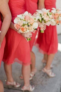 coral and ivory wedding bouquet - Google Search