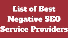 There are a number ways of doing negative SEO. But only a few of them works effectively. Check our list of best negative SEO services in fiverr. We can assure that you will not need to go somewhere else rather than this.  http://www.negativeseoservices.org/