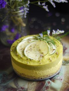 Raw Lemon Lime Cheesecake (Gluten, Grain, Dairy & Refined Sugar Free)