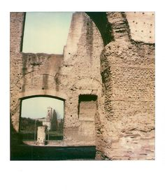 arches at Baths of Caracalla, Rome