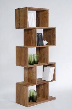Open wooden #bookcase AUTHENTICO ZICK ZACK 150 - @karedesign