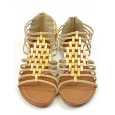 15a198a0be1 Crixus Valley Beige Metallic Strappy Sandals