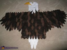 Simple eagle mask made with paper and a glue gun cub scouts bald eagle halloween costume contest at costume works solutioingenieria Image collections