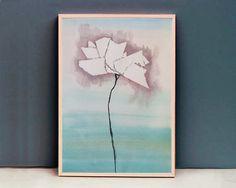 Lonely Flower Original watercolor painting by StrandgaardStudio