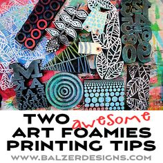 Hey you guys! Today I'm sharing two Art Foamies printing tips! Watch the video for the how-to: I hope you enjoyed that! Let me know if you have other Art Foamies questions. I'm happy to make more videos! Gelli Printing, Stamp Printing, Screen Printing, Collages, Foam Stamps, Handmade Stamps, Art Journal Inspiration, Journal Ideas, Art Journal Techniques