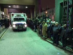 Hundreds Of Police Officers And Firefighters Salute The Two Murdered NYPD Officers  Black, White, Asian, Hispanic, all together in silent honor: ------------------------------------------------- THIS is America......NOT the crap that spews from 0bama, holder, sharpton, and jackson....