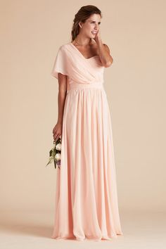 Birdy Grey Gracie Chiffon Convertible Bridesmaid Dress In Blush Pink How To Tie