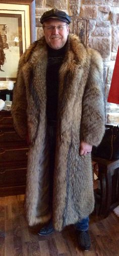 One of my favorite long coats, my Finnish Raccoon. Warm and Furry!!