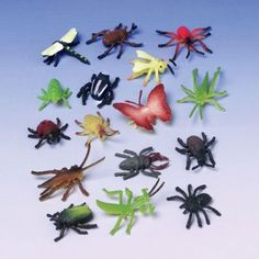 Lot Of 72 Assorted Color And Design Insect Bug Toys