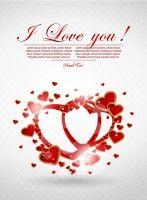 romantic valentine39s day love heart to heart vector