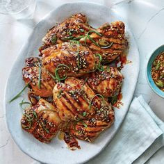 Make-ahead tip: Mix up the glaze first thing in the morning, and allow the chicken thighs to marinate all day in the refrigerator to soak up even more flavor. After that, getting dinner on the table is as simple as heating up the grill pan.