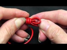 Jewelry How To - Knot Pearls onto Leather - YouTube
