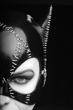 Black | 黒 | Kuro | Nero | Noir | Preto | Ebony | Sable | Onyx | Charcoal | Obsidian | Jet | Raven | Color | Texture | Pattern | Styling | Catwoman | Leather | Makeup | Stitches | Cat | Batman