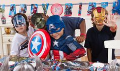 Suit up! No action hero birthday is complete without a super boost from superhero masks and costume accessories!