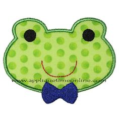 Boy Frog Machine Embroidery Applique Design 4x4 by appliquetime, $2.50
