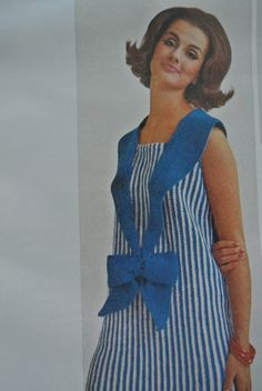 Vintage #crochet dress via 1965 McCalls Crafts magazine