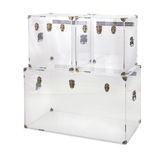 Preston Acrylic Coffee Table and Trunks - Living Room - Storage - Furniture