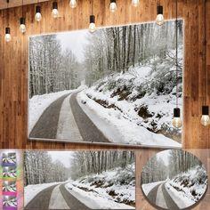 Designart 'Snow Storm at Piornedo Spain' Landscape Wall Metal Wall Art