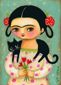 Frida  Je sais que je l'ai déjà... mais elle me fait toujours penser à  Catherine, mon amie de Pinterest. C'est ainsi que je vous imagine Catherine. Bien amicalement