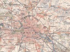 1898 Berlin Capital of Germany and its Surrounds at by Maptimistic, $15.90