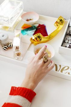 Inside The Stylish Office Of Design Love Fest Photography by Jessie Webster for Glitter Guide The Office, Gold Office, Stylish Office, Home Office Space, Home Office Decor, Home Decor, Office Chic, Office Ideas, Office Inspo