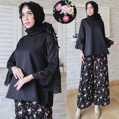 Gambar Baju Setelan Kulot CS021 hitam 600x600