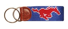 Southern Methodist University Key Fob in Blue by Smathers & Branson