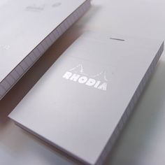 Rhodia Ice | 80th Anniversary Notepad | White Cover with Silver Rhodia Logo