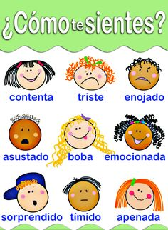 Creative Teaching Press Chart How Do You Feel Spanish Lessons For Kids, Preschool Spanish, Learning Spanish For Kids, Spanish Teaching Resources, Spanish Language Learning, Spanish Grammar, Spanish Vocabulary, Spanish Teacher, Bilingual Classroom