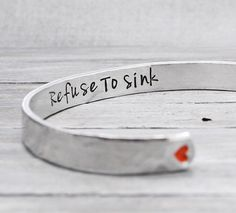 Anchor Bracelet Refuse to Sink Cuff Anchor by PureImpressions, $21.00
