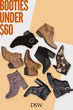 Booties for everyone. From combat to western, embellished to embroidered, pump up your style with booties from all your favorite brands. Discover finds under $60 atDSW. Heeled Boots, Bootie Boots, Shoe Boots, Men's Boots, Suede Booties, Cute Shoes, Me Too Shoes, Fashion Shoes, Fashion Accessories