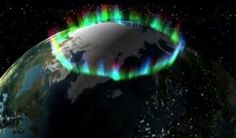 Picture taken by NASA of the northern lights from space