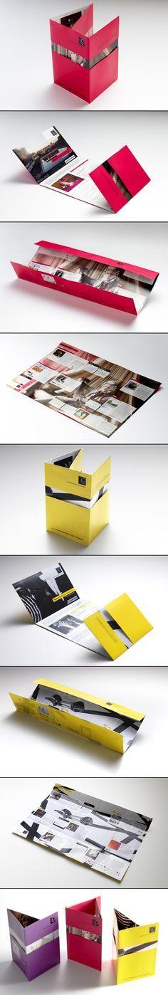 Poster brochure, una nueva y atractiva forma. #brochure #design #ThinkOutside