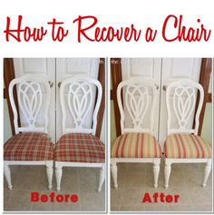 Following is a fun DIY Project and guest post by The Real Thing with the Coake Family... enjoy!! Today I want to show you How to Recover a Chair. It is not a hard process, but it does take a little...