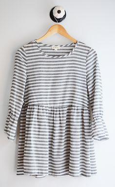 Grey Stripe Blouse