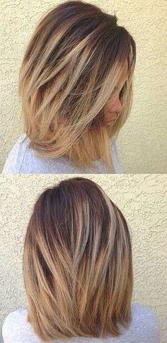 Ombre long bob #hair #lob by WeAreAllMadHere