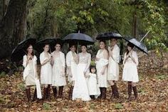 If you are superstitious focus on the good beliefs of unexpected rain before a wedding ceremony, such as, cleansing, renewal, last tears