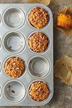 Butternut Pecan Muffins (Gluten-Free, Paleo) Butternut Pecan Muffins (Gluten-Free, Paleo) – Tender and subtly spiced butternut squash muffins topped with a crisp pecan streusel. Gluten Free Muffins, Gluten Free Baking, Fall Recipes, Real Food Recipes, Baking Recipes, Holiday Recipes, Butternut Squash Muffins, Paleo Muffin Recipes, Paleo Nutrition