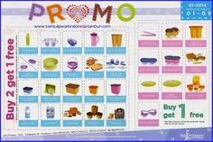 Promo Buy 2 Get 1 Free & 1 Free 1 Tulipware Januari - Februari 2014