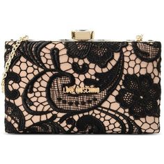 Love Moschino Clutch ($80) ❤ liked on Polyvore featuring bags, handbags, clutches, purses, bolsas, accessories, beige, hand bags, lace handbags and metallic purse