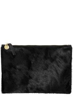 Clare V. Womens Supreme Flat Clutch Size One Size - Black by: Clare V.