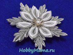 Kanzashi Snowflake ribbons