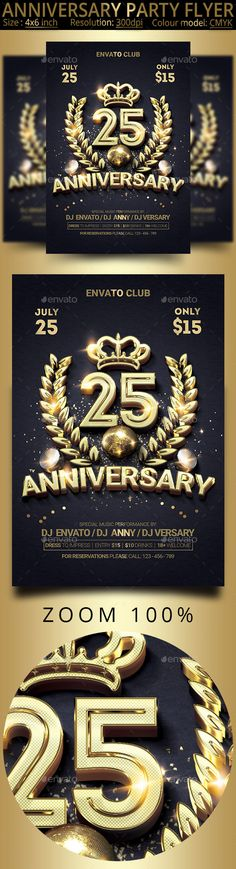 Anniversary Flyer  Anniversaries Font Logo And Flyer Template