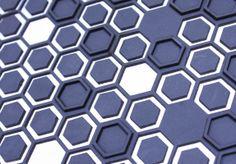 Harcourt London- Back lit leather hexagonal panels.