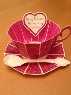 I made this card for my husband who hates to drink tea or coffee from a mug and perfers a china cup.  I used a Silhouette Cameo to cut a file that I downloaded from SVG Cuts http://svgcuts.com/index.php?main_page=product_info=65_id=308